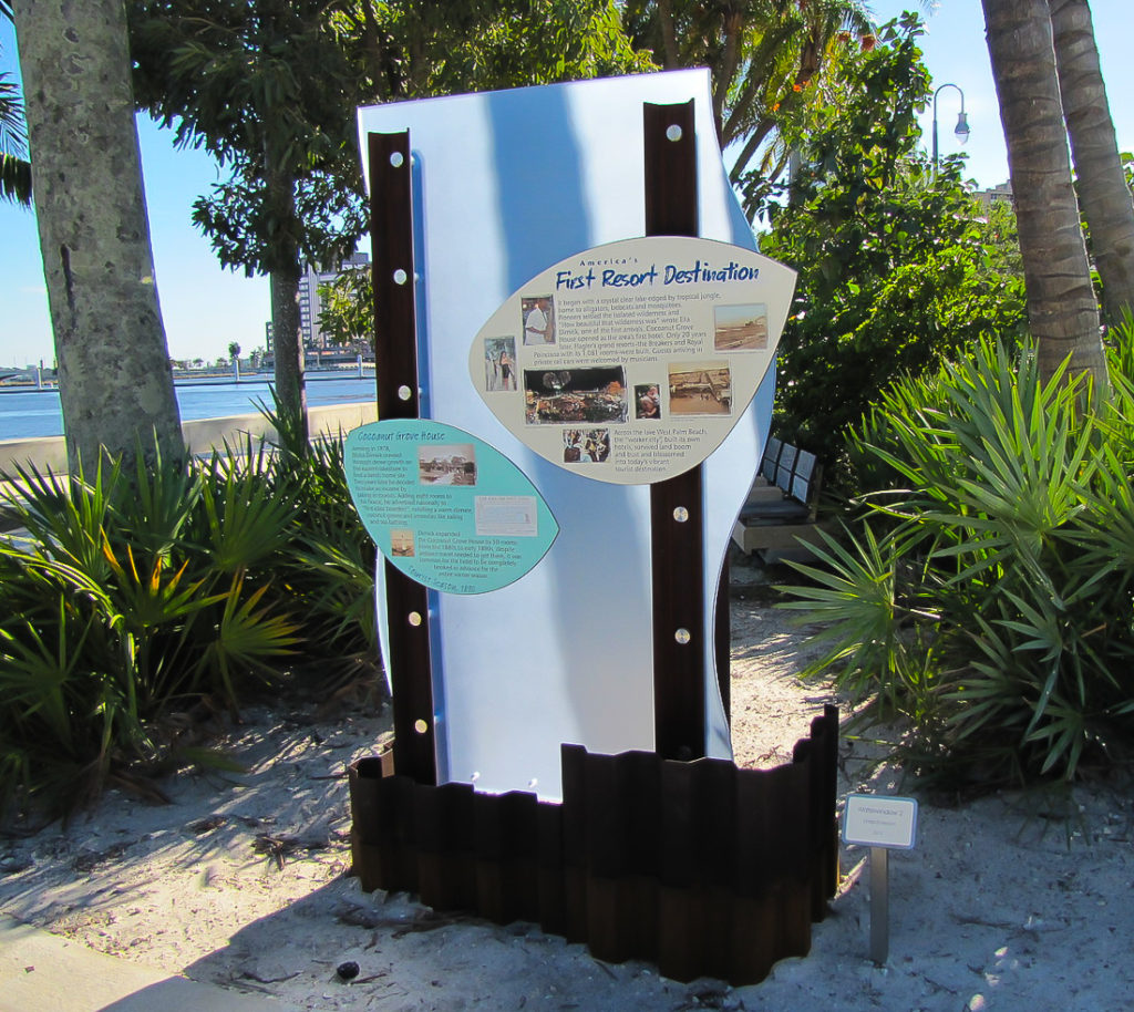 West+Palm+Beach+Waterfront+Interpretive+Signage+First+Resort+Destination+Sign